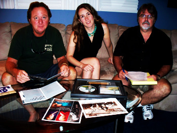 Jim Carrick, Krysta Brown and Jim Stafford of Eclipse Recording Company