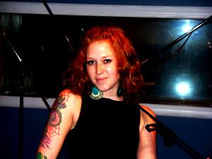 Emma Moseley in the studio