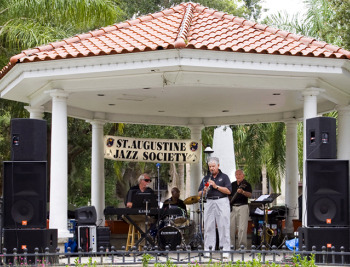 St. Augustine Jazz Society in the Plaza in St. Augustine