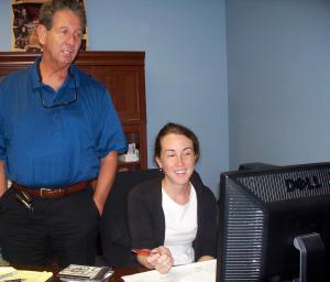 David Eli Grimes and Krysta Brown at Eclipse Recording Company
