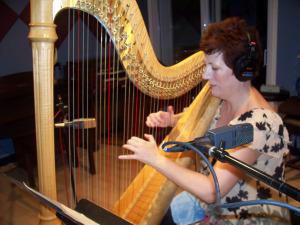 Martha Bush in the Studio at Eclipse Recording Company
