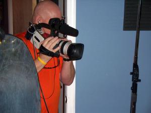 Dan Bagan Shooting Video at Eclipse Recording Company