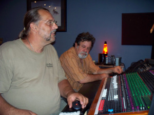 Dave Besley and Woody Pernell at Eclipse Recording Company