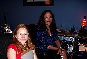Elizabeth Roth and Harmony Cornett at Eclipse Recording Company