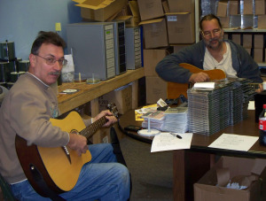 Dave Besley and Walt at Eclipse Recording Company