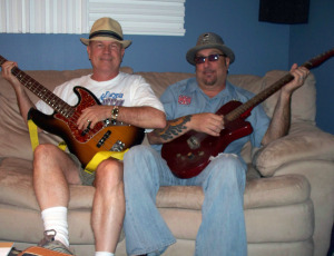 "Bernie ""Son"" Powers and Rob Piazza at Eclipse Recording Company!"