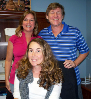 Nancy and Gordan McDonal with Krysta Brown at Eclipse Recording Company