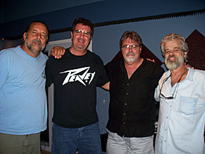 Dave Besley, Kurt Johnston, Jim Stafford and Gove Scrivenor at Eclipse Recording Company