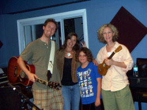 Katherine Archer and Family at Eclipse Recording Company!
