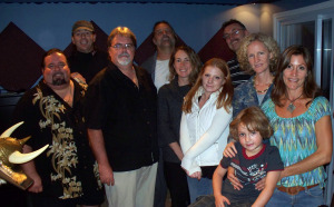 The whole gang at Eclipse Recording Company