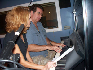 Karen Berkley with Kurt Johnston at Eclipse Recording Company