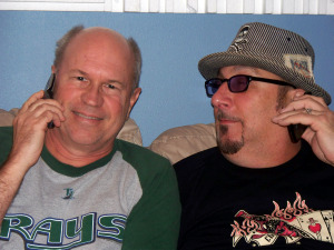 "Bernie ""Son"" Powers and Rob Piazza at Eclipse Recording Company"