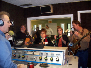 Spanky and our gang on Airborne with Matt Jeffs Live with jim Stafford