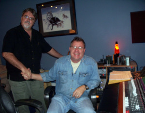 Jim Stafford with Steve at Eclipse Recording Company