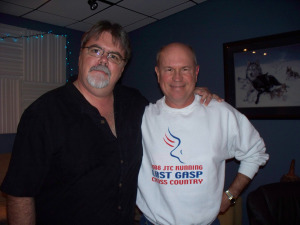 "Jim Stafford and Bernie ""Son"" Powers at Eclipse Recording Company"