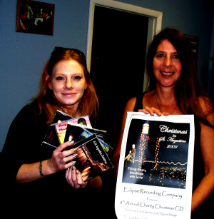 Harmony Cornett and Karen Leslie at Eclipse Recording Company