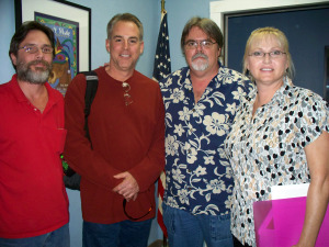 Chris Schaefer, Matt Jeffs, Jim Stafford and Kay Saghir at Eclipse Recording Company