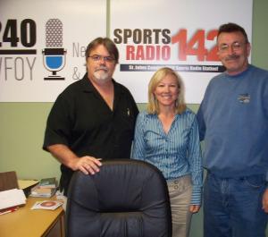Jim Stafford, Kris Phillips and Ray Kayanek at WFOY 1240