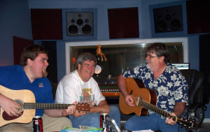 Sam Hankinson, John Hankinson and Jim Stafford at Eclipse Recording Company