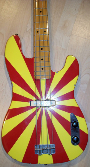 "Hand-painted Bass by Bernie ""Son"" Powers at Eclipse Recording Company"