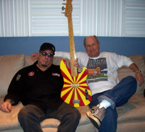 "Rob Piazza and Bernie ""Son"" Powers at Eclipse Recording Company"