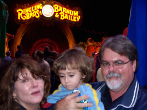 Jim Stafford, Inga Erickson and Seattle Mongelo at the Circus