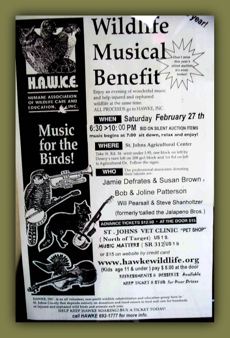 Wildlife Musical Benefit H.A.W.K.E. Sponsored by Eclipse Recording Company