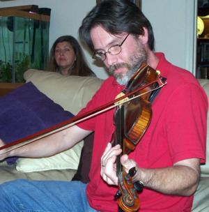 Chris Schaefer and Theresa Besley at Jim's House Jam