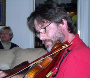 Susan Bagan and Chris Schaefer at Jim's House Jam