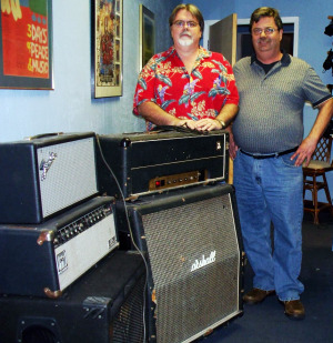 Steve Bennett pictured with Jim Stafford of Eclipse Recording Company