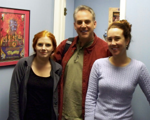 Harmony Cornett, Matt Jeffs and Krysta Brown at Eclipse Recording Company