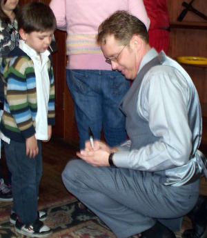 Jim's grandson Taylor Perella got an autograph from Will after the show!