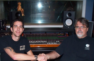 Eclipse Recording Company with new producer, Frank and Jim Stafford in the control room!