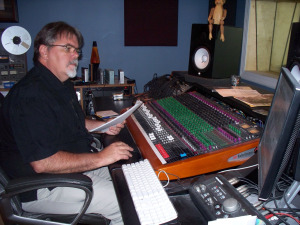 Jim Stafford in the control room of Eclipse Recording Company