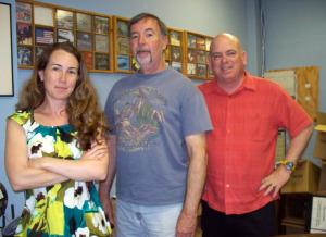 Krysta Brown, Wayne Johnston and Dan Bagan at Eclipse Recording Company