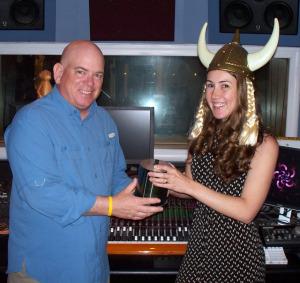 Krysta Brown and Dan Bagan at Eclipse Recording Company