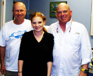 Son Powers, Harmony Cornett and Dan Bagan at Eclipse Recording Company