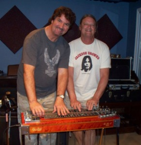 Steve Corliss Bryant with kurt Johnston at Eclipse Recording Company