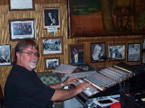 Jim Stafford at the sound board inside Tradewinds where Spanky and our Gang performed.