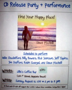 """Find Your Happy Place"" CD Release party for Steve Piscitelli"