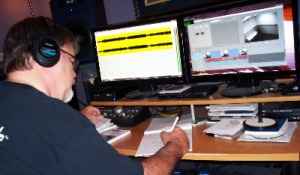 Jim Stafford, Chief Conspirator of Eclipse Recording Company, hard at work
