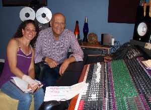 Lisa Black and Art Heilweil from the Temple Bet Yam at Eclipse Recording Company