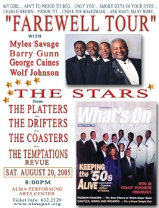 The Platters Farewell Tour poster