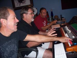 In the studio at Eclipse Recording Company in St. Augustine Fl.