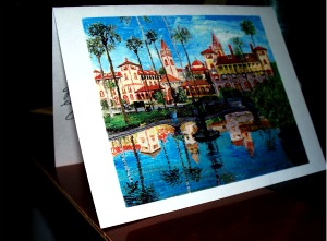 "A very nice ""Thank You"" Card from Tracy Halcomb of Flagler College in St. Augustine"