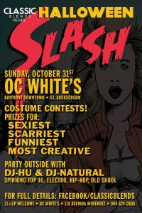 Halloween Slash Event at O.C. Whites in St. Augustine with Classic Blends