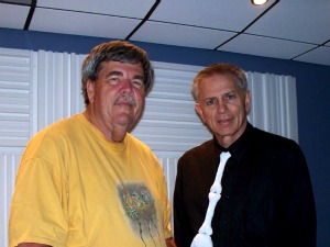 John Hankinson and Peter Guinta from the St. Augustine Record at Eclipse Recording Company
