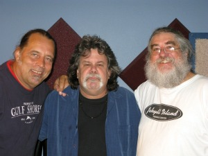 Dave Besley, Gove Scrivenor and Eddie Pickett at Eclipse Recording Company in St. Augustine Florida