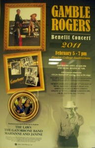 Gamble Rogers Benefit Concert/  Eclipse Recording Company blog