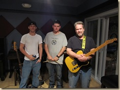 sessions in the recording studio